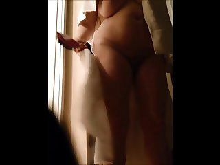 Aunt caught naked after shower in her dressing room