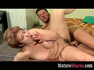 Horny granny with muscle stud