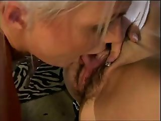 Lesbian wet pussy licking
