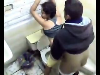 Fucking Sister in Toilet for Cash