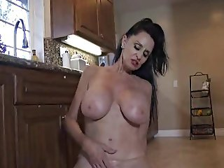 63 yr old Lady kitchen play