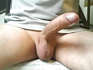 Wanking my shaved cock for Claire