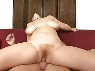 Big Soft Tits and Red Hairy Pussy
