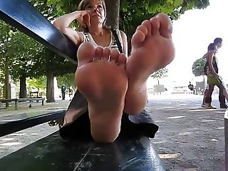 Mature French lady at the park