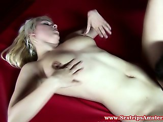 Real blonde hooker gets pussy eaten