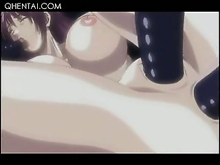 Bonded hentai sex slave gets double fucked hard in close-up