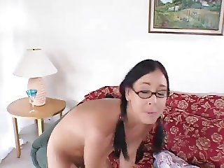 Nerdy Chick Takes Hard Boning From Ugly Dude 420