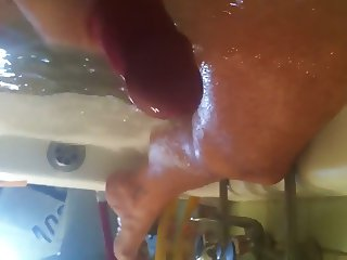Water jerk in hot tub