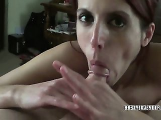Busty redhead Lavender getting fucked