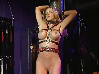 Hottie with big tits, bound and enjoyed by her  mistress