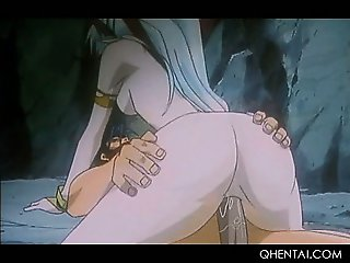 Big titted hentai fairy eating and jumping hard phallus