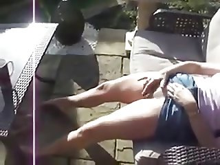 woman caught masturbating in the garden