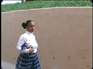 Little Black School Girl Tracy Is Selling Ass Candy