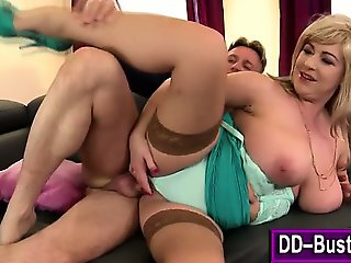 Massive boobs hoe pussy rammed