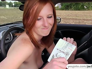 Hot and sexy Linda gets sweet public fucking and receives spermy douche