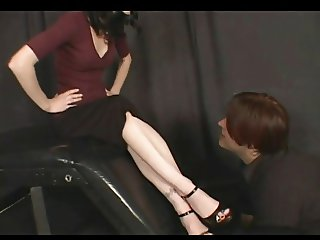 A nice foot domination scene