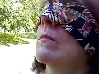 Blindfolded BJ by ABBEY in the park