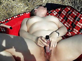 Dutch Alexandra masturbating and squirting in the open