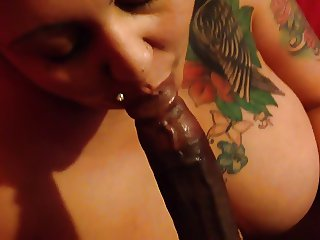Bbw sucking my bbc