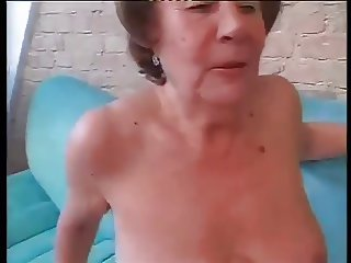 Slut Granny Martha Fucked In Both Holes