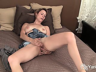 Chesty Harley Fingering Her Pussy And Ass