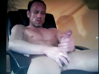 hot muscle stud jerking a huge dick on cam