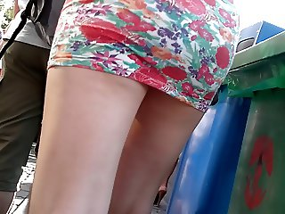 short skirt nice candid ass and legs