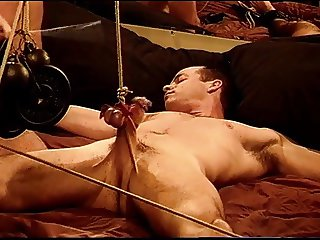 Muscle CBT,bash his balls, beat his cock
