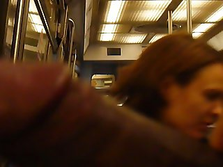 girl flashing in subway PARIS humm