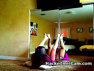 Latina Girls Plays Alone On Her Hacked Web Camera