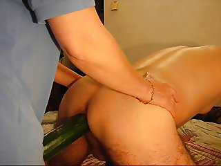 Mistress A. - Another little game with a big cucumber