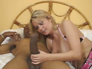 Alexis may sucking a big black cock