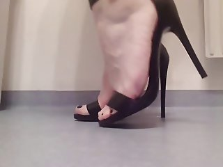 my kinky analwhore showing off her new heels