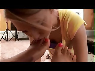 young ebony Princess use white lesbian feet slave
