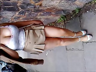 Micro skirt in public