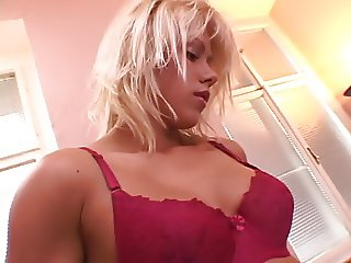 Nice fuck of a blond anal whore