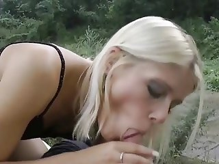 Hot Czech Girl Strips Outdoors Scene #2