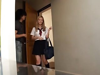 Lustful School Girl Gets A Creampie,By Blondelover