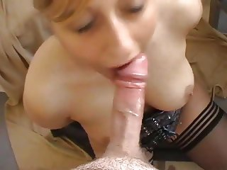 Handcuffed girl oral and anal