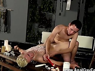 Twink sex Splashed With Wax And
