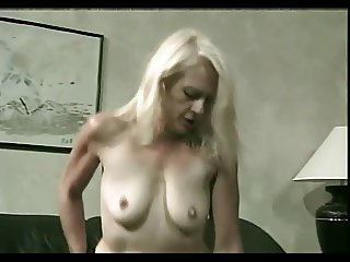 Drizzling Cum On Granny Kathy's Grey Haired Cunt