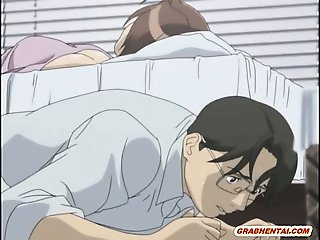 Bondage hentai with gagging gets scared and hard fucked by m