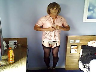 Jenny changing for her maid service