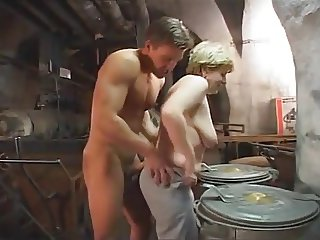 German Granny fucked hard