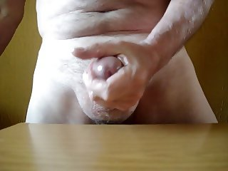 Wanking my oiled cock