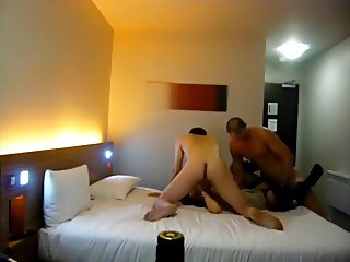 Amature Couple fuck a whore in the hotel