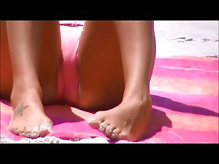 candid beach spy crotch 84 side and front cameltoe view