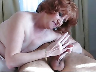 Hot Redhead Mature Cougar Sucking and Licked