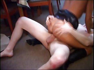 Sexy bitch getting cock fucked by the bar