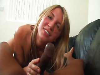 White slut experiences black meat